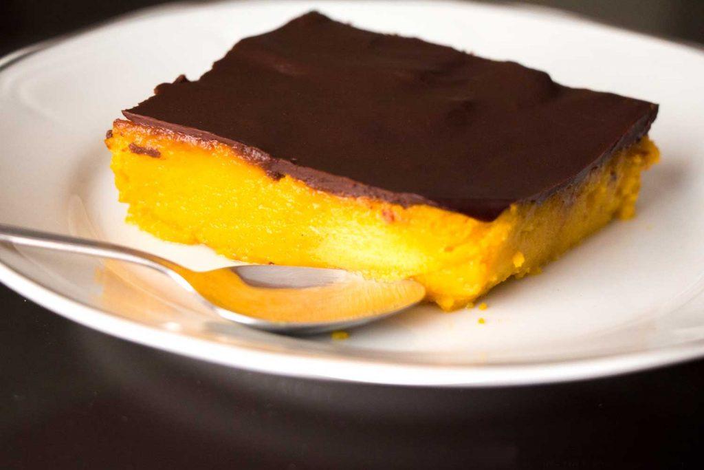 pastel de calabaza con chocolate eco somnatur