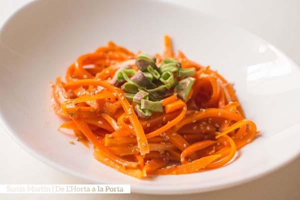 Receta de ensalada de zanahoria ecológica