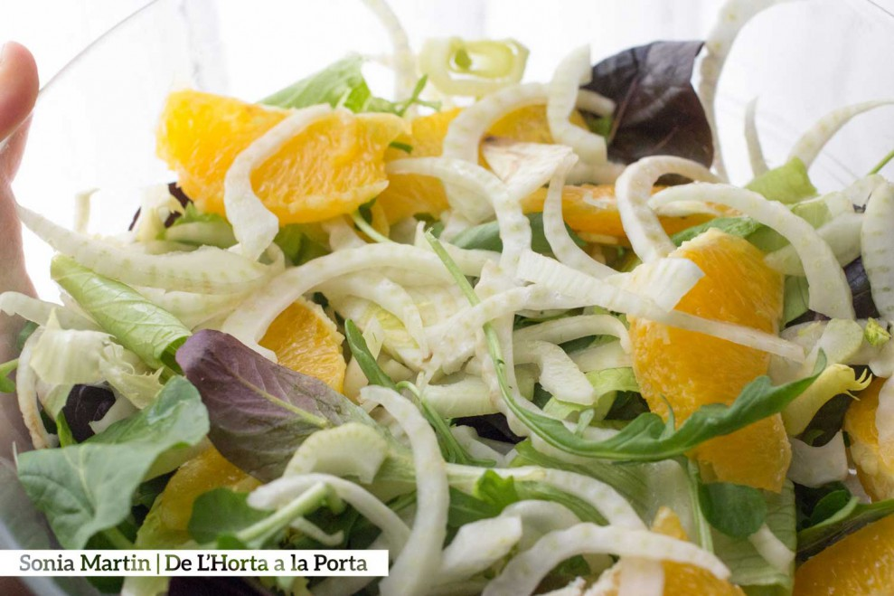 receta ensalada hinojo y naranja