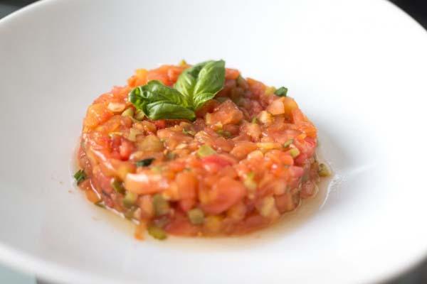 Receta de tartar de tomate ecológico Somnatur