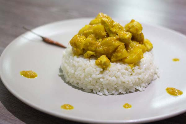 Receta de curry de manzana ecologica