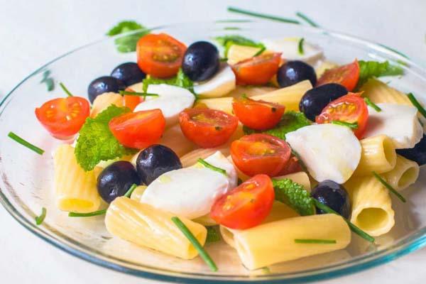 Receta ensalada de pasta con tomate cherry ecologico