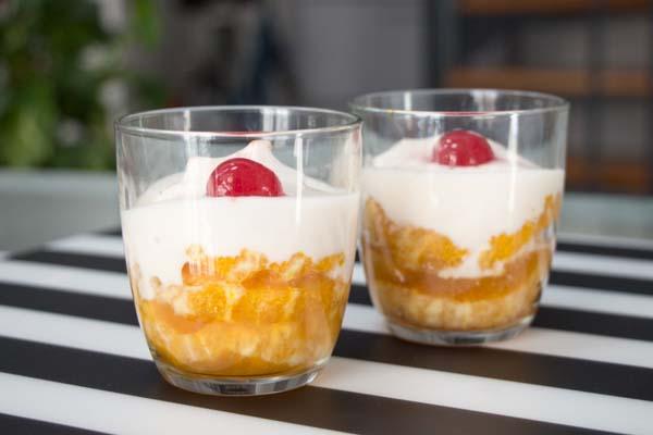 Receta naranjas caramelizadas con yogur