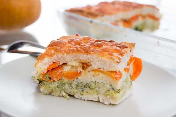 Receta pastel de brócoli y zanahoria