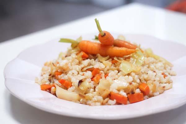 receta de arroz frito con col