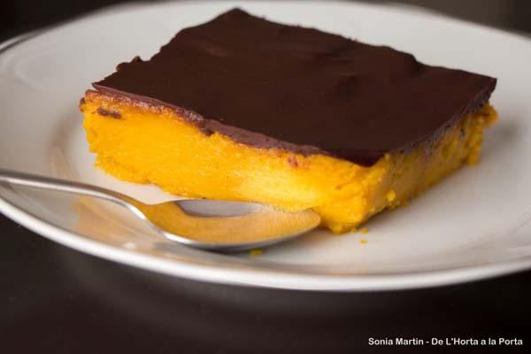 Receta pastel de calabaza y chocolate