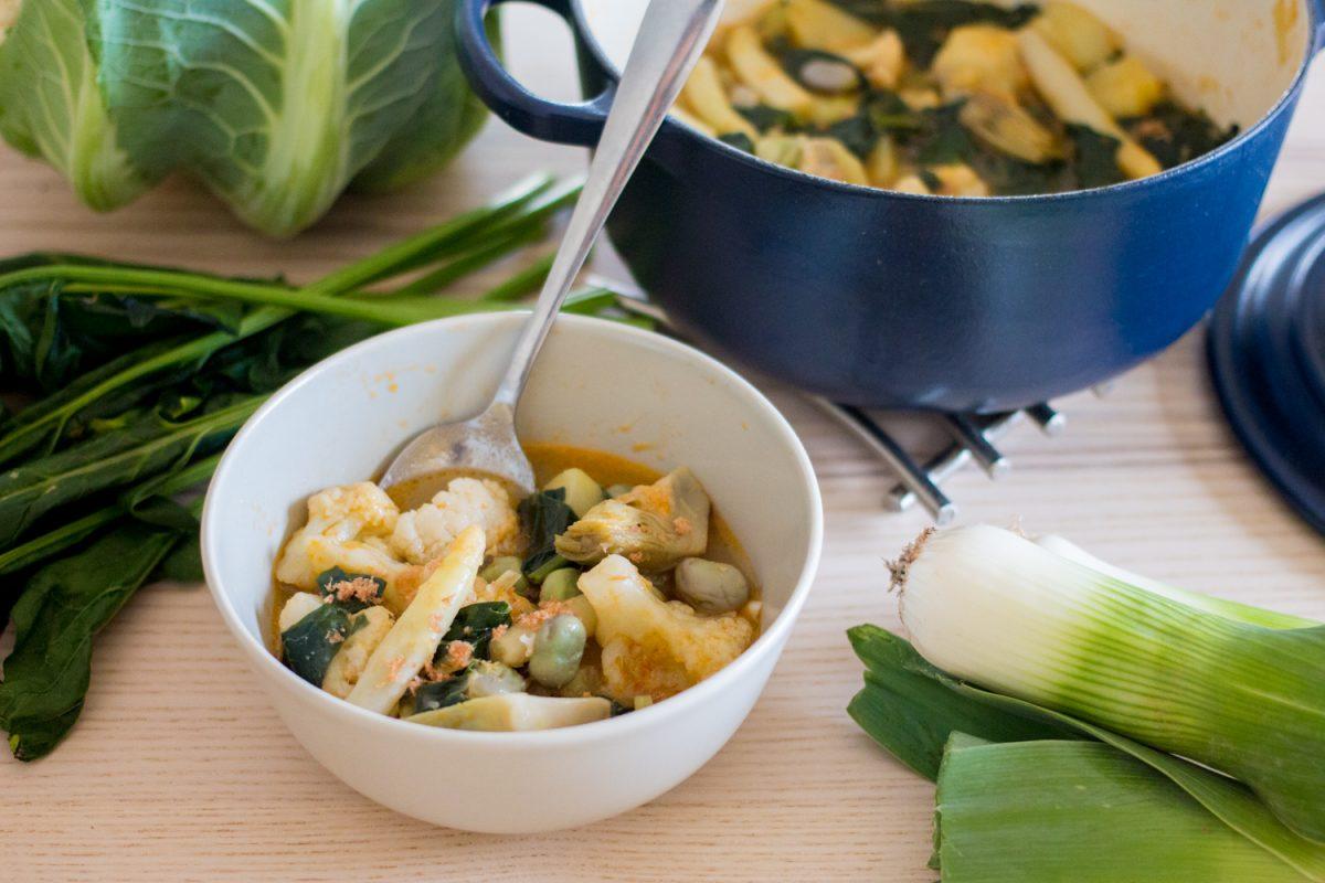 Receta de menestra de verduras ecológica