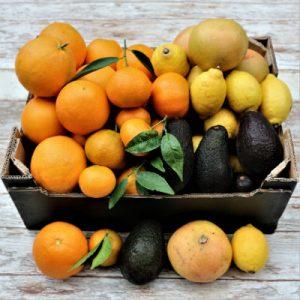 mix naranja, mandarina, limon, pomelo, aguacate 10kg r