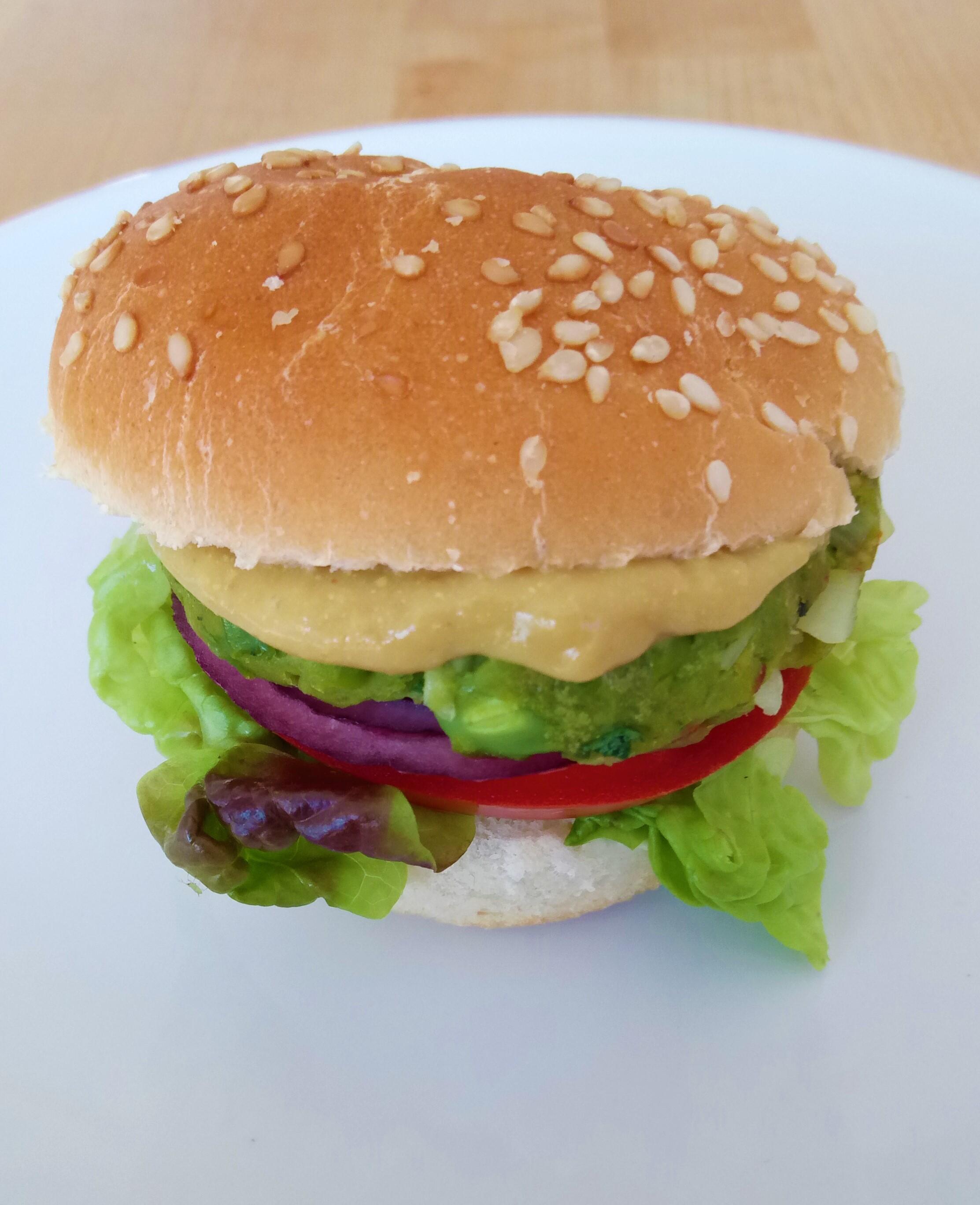 Mini hamburguesas de guisantes ecológicos