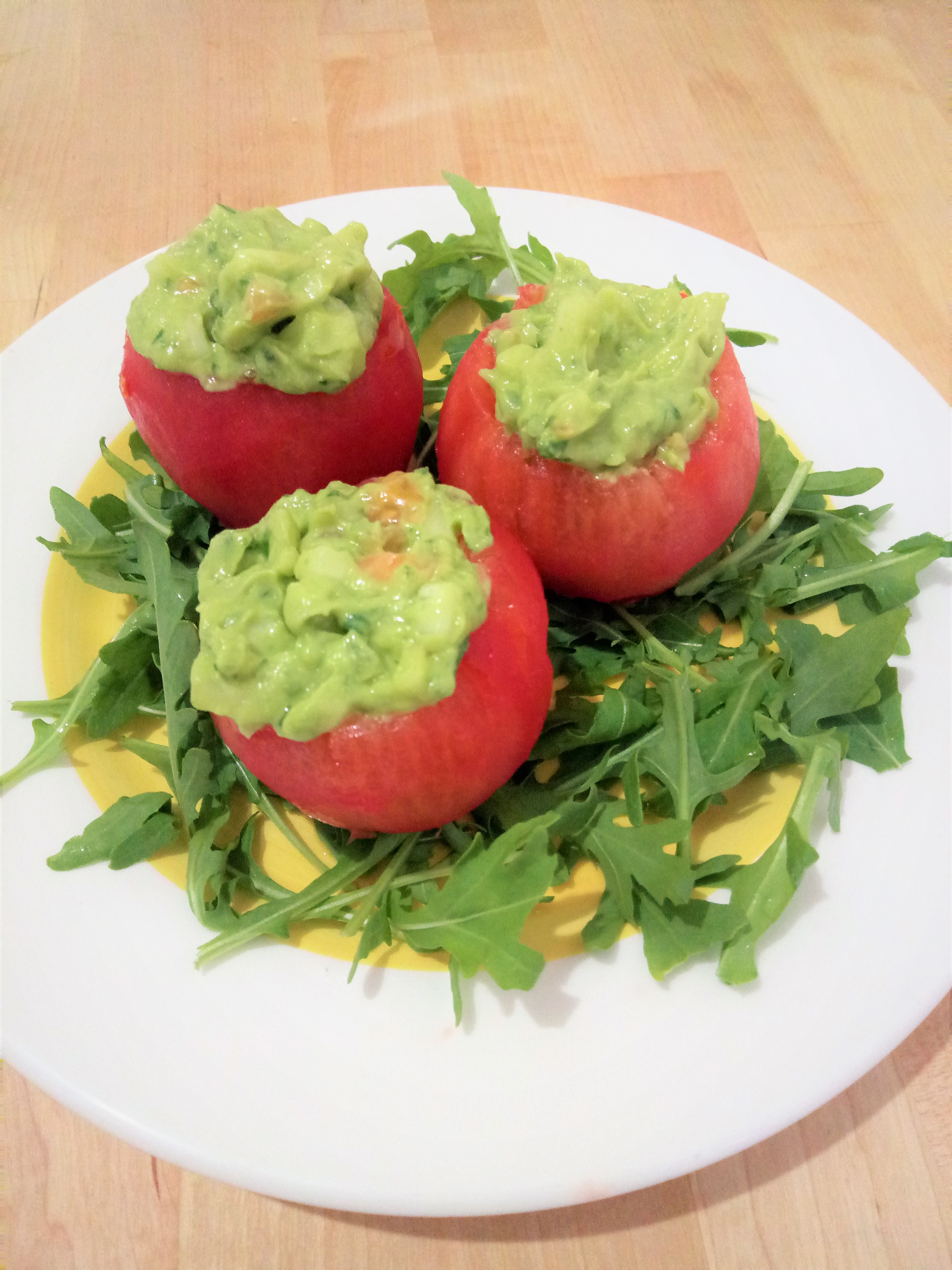 Tomates ecológicos rellenos